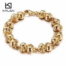 skull bracelet charm images Kalen punk skull bracelets for men stainless steel dubai gold jpg