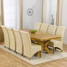 Oak Extending Dining Table And 8 Chairs 8 Seat Dining Table Freedom To