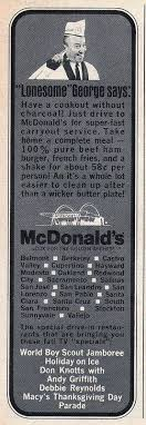 let s look at some vintage 1960s mcdonald s advertisements