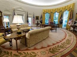 Obama Oval Office Decor Photos White House Oval Office Renovated Business Insider