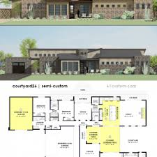 small courtyard house plans pool courtyard house plans floor second sunco surripui