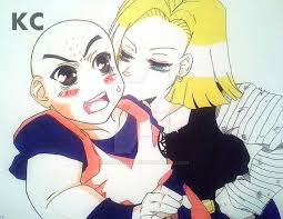 z android 18 krillin and android 18 fanart z by madasthyhatter on