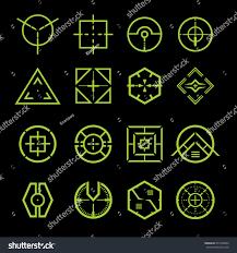 crosshair vector set stock vector 277430003