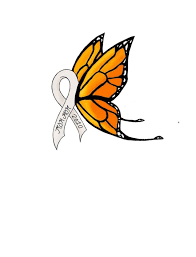 lung cancer ribbon butterfly tattoos clip art library