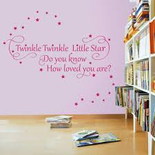 twinkle twinkle little star 2 nursery wall quote decal sticker twinkle twinkle little star 2 nursery wall quote decal sticker medium amazon co uk kitchen home