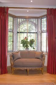 interior bay window curtain ideas bow window curtain rod bay