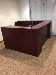 Reception Desk Wood by Office Furniture Houston Tx Reception Desk Furniture