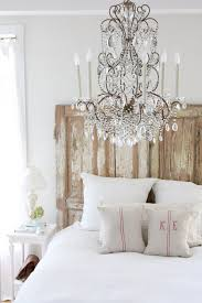 34 diy headboard ideas chandelier over the bed