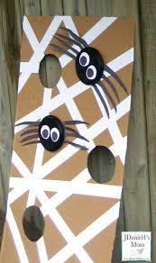 halloween games spider web frisbee toss