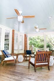 Screened Porch Makeover by Haint Blue Porch Ceiling Makeover Haint Blue Porch Ceiling Blue