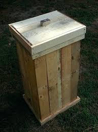 kitchen bin ideas 100 free wooden garbage bin plans best 25 trash bins ideas