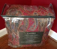 Ralph Lauren Comforter Queen Amazon Com 400 Ralph Lauren William Paisley Red Blue Queen 4