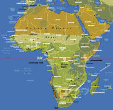 algeria physical map map of africa africa map