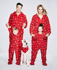 family pajamas footed reindeer pajama sets created for macy s