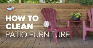 How To Clean Patio Chairs How To Clean Patio Furniture Clorox