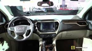 Gmc Acadia Denali Interior 2017 Gmc Acadia Denali At 2016 Detroit Auto Show