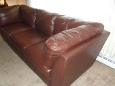 used red leather sofa leather furniture ebay
