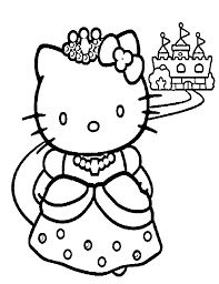 princess kitty coloring pages ekids pages free printable