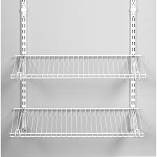 Rubbermaid Closet Configurations Shop Rubbermaid Homefree Series 4 Ft Adjustable Mount Wire