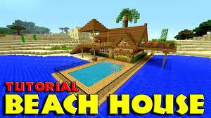 build a pool house minecraft how to build a beach house tutorial simple u0026 easy