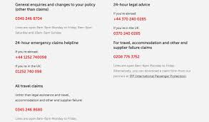 direct line travel insurance contacts