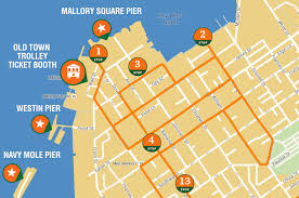 charleston trolley map maps update 700654 key tourist attractions map 16