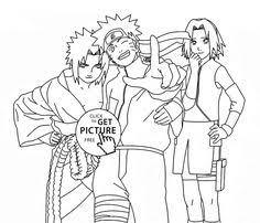 naruto sasuke coloring kids manga anime