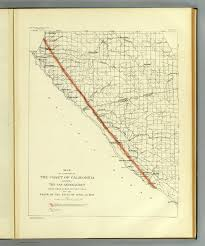 Map Of The Coast Of California Coast Of California Showing San Andreas Rift David Rumsey