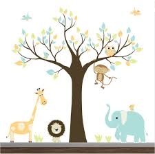 bedroom baby boy wall stickers wall decal sayings wall graphic children wall decals jungle with elephant monkey baby boy girl