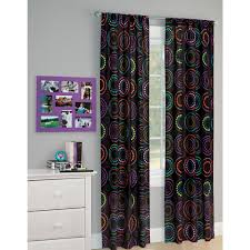 2 panel room divider your zone peace and love girls bedroom curtain panel set walmart com