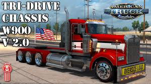 kenworth chassis ats mods kenworth w900 tri drive v 2 0 youtube