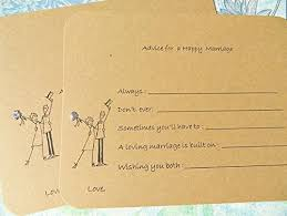 wedding wish card buy bridal shower advice cards wedding shower advice tags