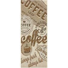 tapis de cuisine alinea tapis de cuisine marron 67x140cm coffee linge de maison