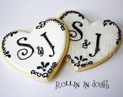 wedding cookies wedding cookies etsy