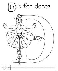 printable alphabet coloring pages letter d for dance alphabet