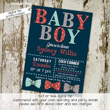 gentleman baby shower bow tie baby shower invitation katiedid designs