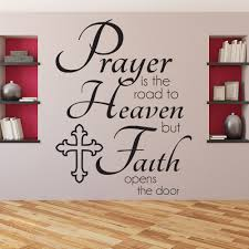 prayer is road quote religious wall stickers home