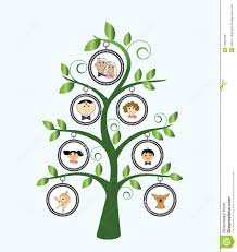 family tree stock vector image of grandchildren floral 13907096