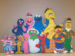 sesame street characters row grover telly monster cookie