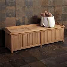 Outside Storage Bench Jakie 4 Ft Teak Outdoor Storage Bench Outdoor