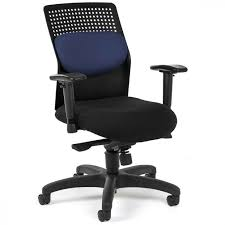 Awesome Computer Chairs Design Ideas Navy Blue Padded Chair Combine Mesh Component For Back In