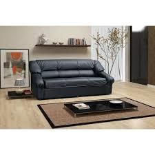 divan canapé canapé dolaro noir 3 places sofa divan achat vente canapé