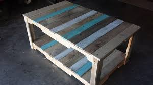 Stained Coffee Table Pallet Coffee Table With Stained Stripes