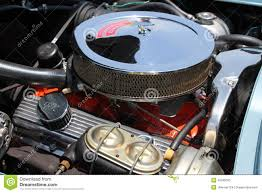 Classic American Muscle Cars - classic american muscle car engine editorial stock photo image