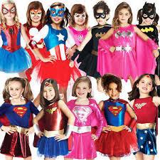 Halloween Kids Costumes Superhero Girls Fancy Dress Book Characters Childrens Halloween