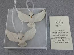 two turtle doves ornaments the bff gift wedding