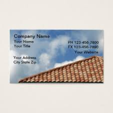 roofing contractor business cards templates zazzle
