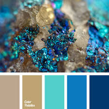 this palette combines turquoise shades that perfectly balance not