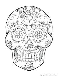printable coloring pages sugar skulls skull with wings in flames coloring page free printable coloring