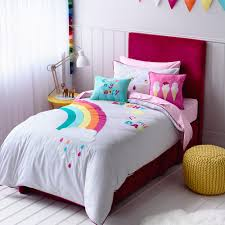 adairs kids girls rainbow u0026 sunshine bedroom quilt covers